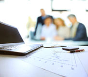 The workplace of business people Royalty Free Stock Photography