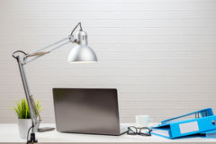 The workplace of a businessman is stylishly. Decorated Royalty Free Stock Images