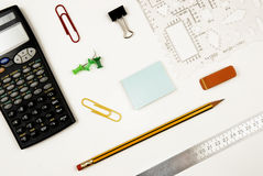 Workplace with a calculator Royalty Free Stock Photo