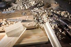 Workplace carpenter Stock Image