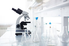 Workplace of chemist Royalty Free Stock Images