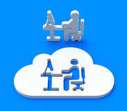 Workplace in the cloud Royalty Free Stock Photos