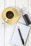 Workplace with coffee Royalty Free Stock Photos
