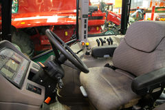 Workplace of combine driver Royalty Free Stock Photos