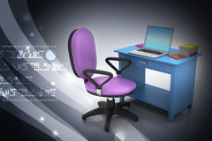 Workplace with computer Stock Image