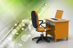 Workplace with computer Royalty Free Stock Image