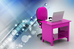Workplace with computer Stock Images