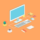 Workplace concept. Flat design Royalty Free Stock Photos