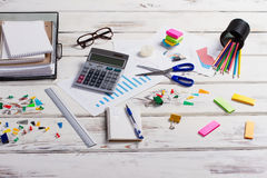 Workplace in creative agency. Stock Photo