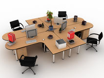 Workplace desks �4 Stock Photo
