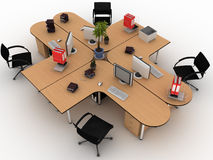 Workplace desks Royalty Free Stock Photo