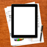 Workplace with digital tablet computer Royalty Free Stock Images