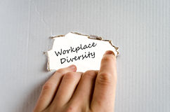Workplace diversity text concept Royalty Free Stock Photography