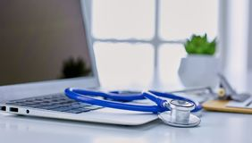 Workplace of the doctor in the office Stock Photography