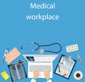 Workplace doctor at table. Stock Photography
