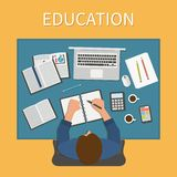 Workplace. Endless education. Training and online Royalty Free Stock Image