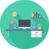 Workplace Flat Icon Royalty Free Stock Photo