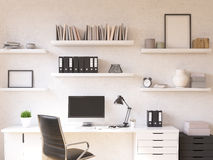 Workplace at home Royalty Free Stock Photo