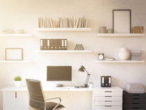 Workplace at home Stock Image