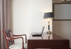 Workplace in a Hotel Room Stock Photography