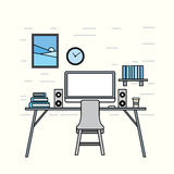 Workplace illustration Royalty Free Stock Image