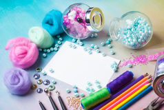 Workplace of jewellery  maker Stock Photos