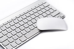 Workplace with keyboard and mouse. Workplace with keyboard and mouse on white background Stock Images