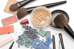 Workplace of makeup artist Royalty Free Stock Photos