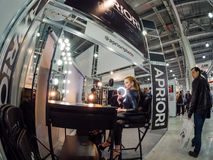 Workplace for makeup at booth of Aprioiri Photo studio Royalty Free Stock Images