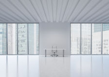 A workplace in a modern panoramic office in New York City. Stock Images