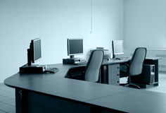 Workplace monitor table Royalty Free Stock Photos