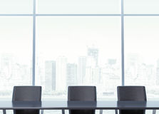 Workplace for negotiations with table Stock Photo