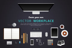 Workplace with  objects Stock Photo