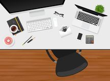 Workplace with  objects Royalty Free Stock Photo