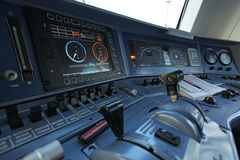 Free Workplace Of The Driver Of A Train Royalty Free Stock Photos - 24139248