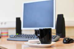 Workplace in office Royalty Free Stock Photos