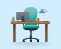 Workplace in office. Stock Images