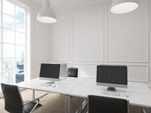 Workplace in an office Stock Image