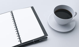 Workplace,organizer and coffee Stock Photography