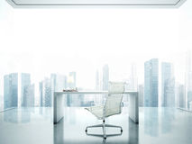 Workplace with panoramic view Royalty Free Stock Photos
