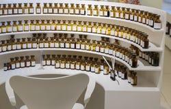 Workplace perfumer Fragonard factory Royalty Free Stock Images