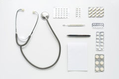 Workplace of physician Stock Image