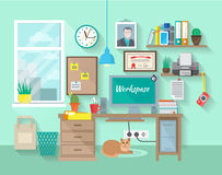 Workplace In Room Royalty Free Stock Image
