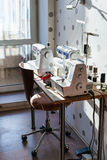 Workplace of seamstress at home Royalty Free Stock Photography