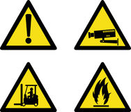 Workplace site safety signs vector illustration