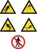 Workplace site safety signs. Vector illustration of Mandatory workplace and site management and safety signs isolated on white royalty free illustration