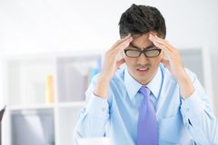 Workplace stress Stock Image