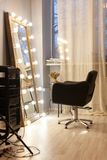 Workplace stylist, hairdresser, barber, makeup artist. Beauty saloon. royalty free stock photos