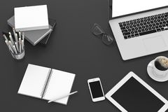 Workplace, top view Royalty Free Stock Photography