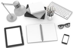 Workplace, top view Royalty Free Stock Photo